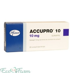 ACCUPRO 10 MG 30 COMPRIMATE