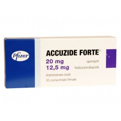 ACCUZIDE FORTE 20 MG/12,5...
